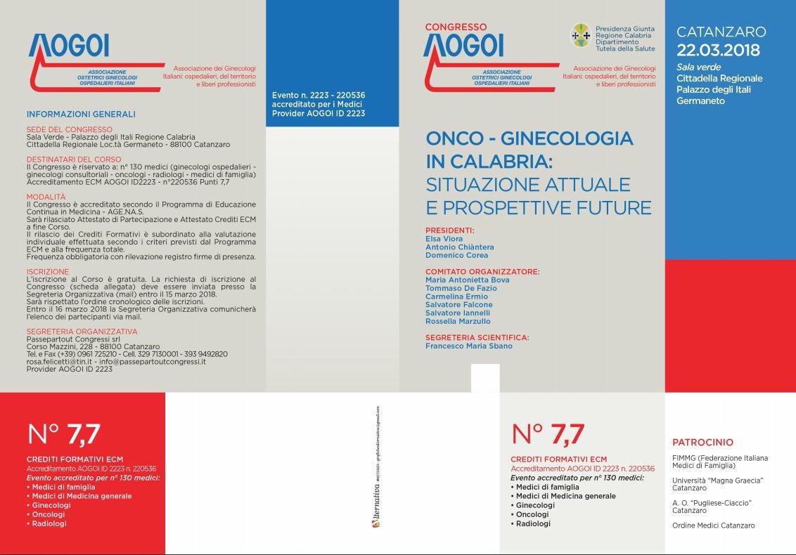 Onco-Ginecologia in Calabria: Situazione attuale e prospettive future