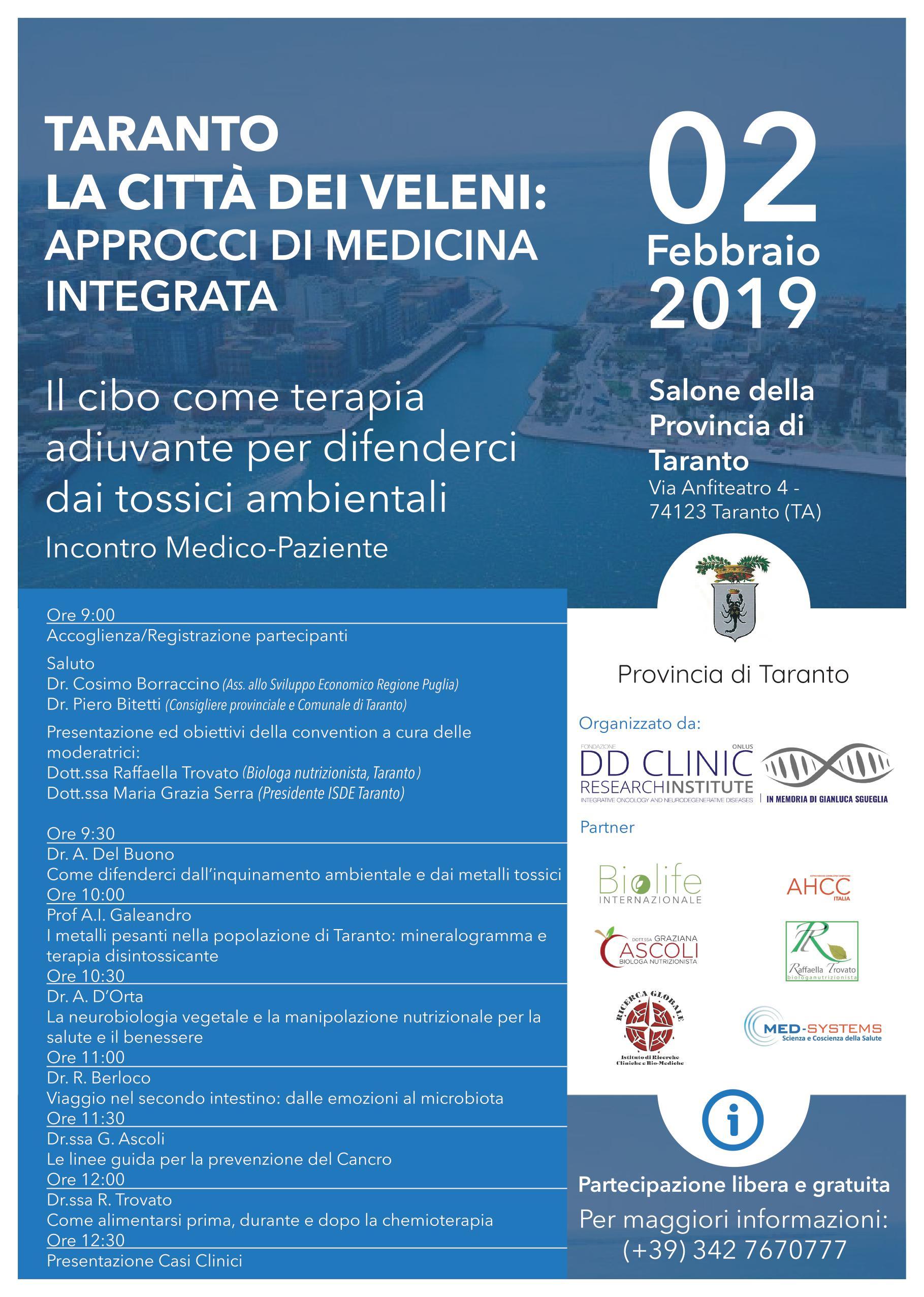 Convegno: Taranto la Città dei veleni: approcci di medicina integrata