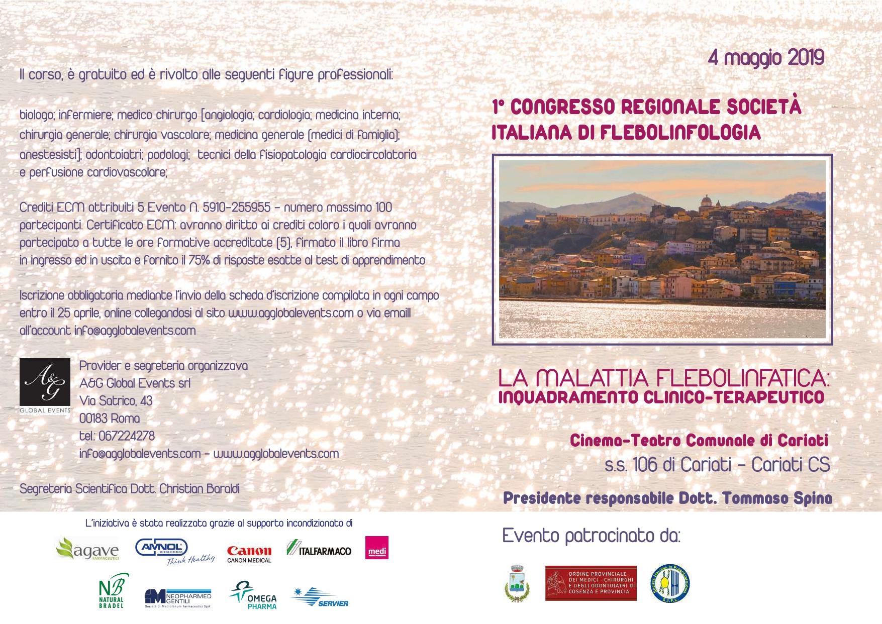 1° CONGRESSO REGIONALE SOCIETÀ ITALIANA DI FLEBOLINFOLOGIA